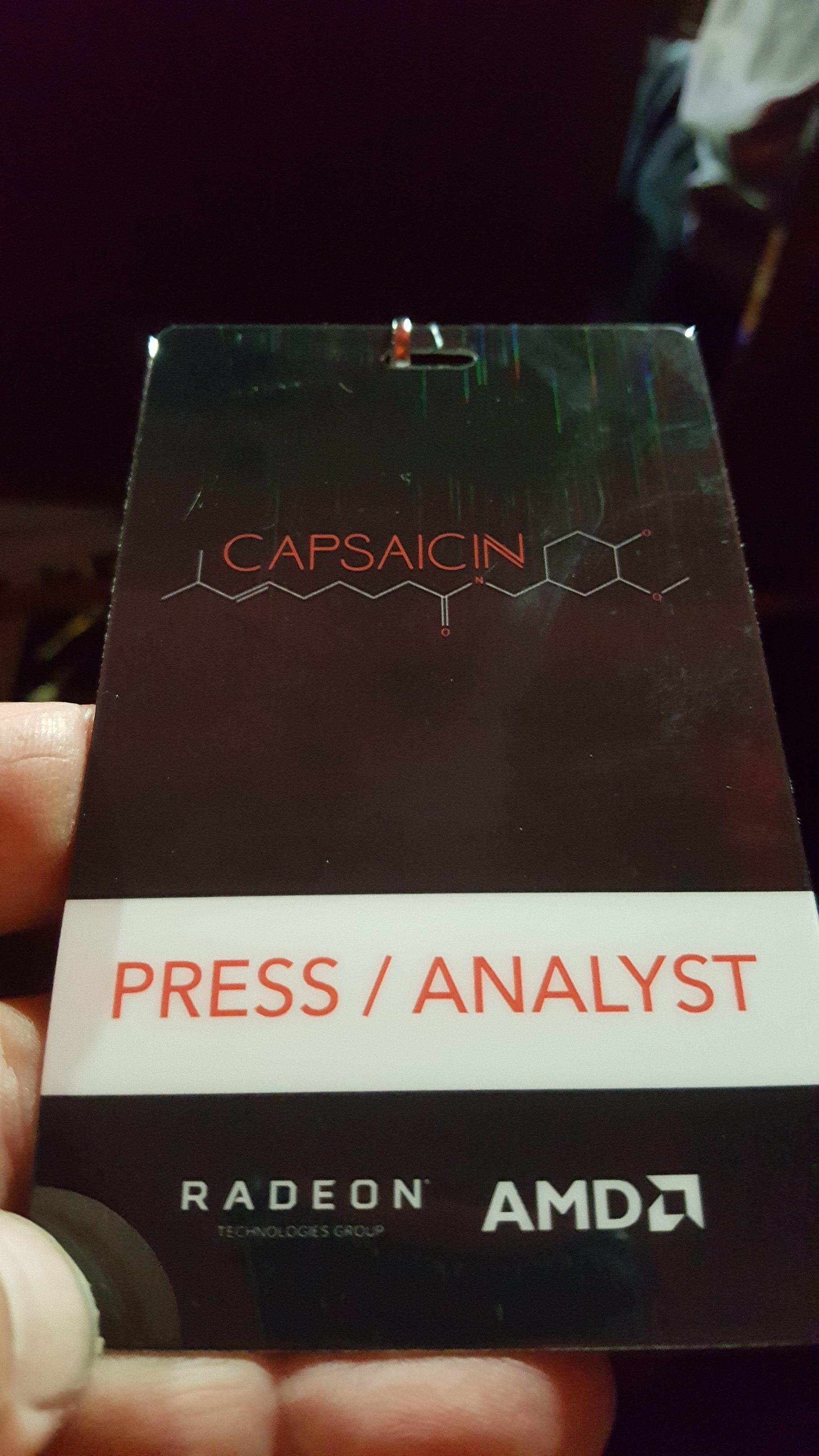 My Capsaicin Press badge.
