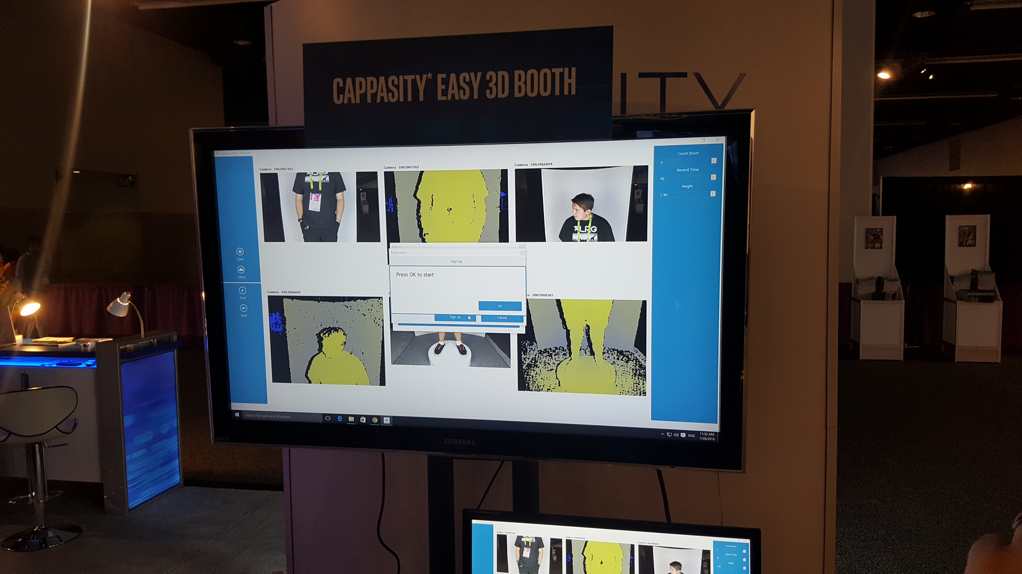 Cappasity was on hand showing off there economical 3D rendering software.