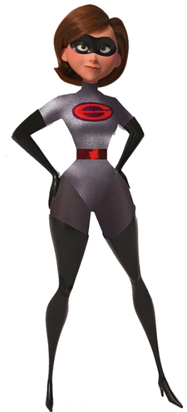 Elastigirl in red and grey costume